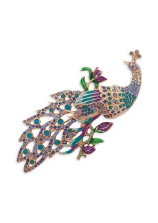 Anne Klein Embellished Peacock Brooch in Gift Box