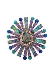 Anne Klein Embellished Pin Wheel Brooch in Gift Box