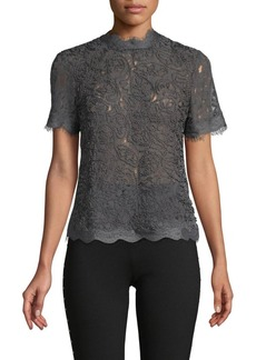 Anne Klein Embroidered Lace Top