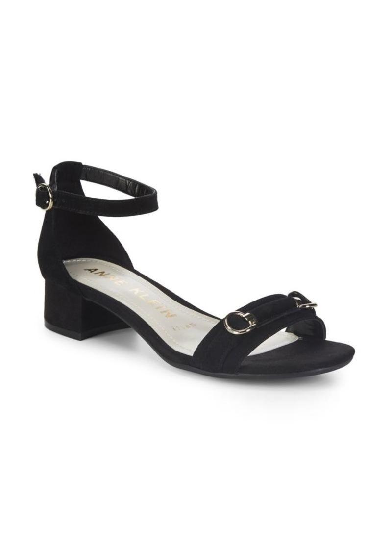 9dbf17b2d4 Anne Klein Anne Klein Esme Nubuck Leather Sandals | Shoes