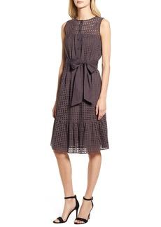 Anne Klein Eyelet Fit & Flare Dress