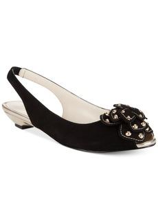 Anne Klein Farrah Slingback Embellished Sandals