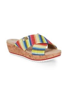 Anne Klein Felisha Crisscross Wedge Sandals