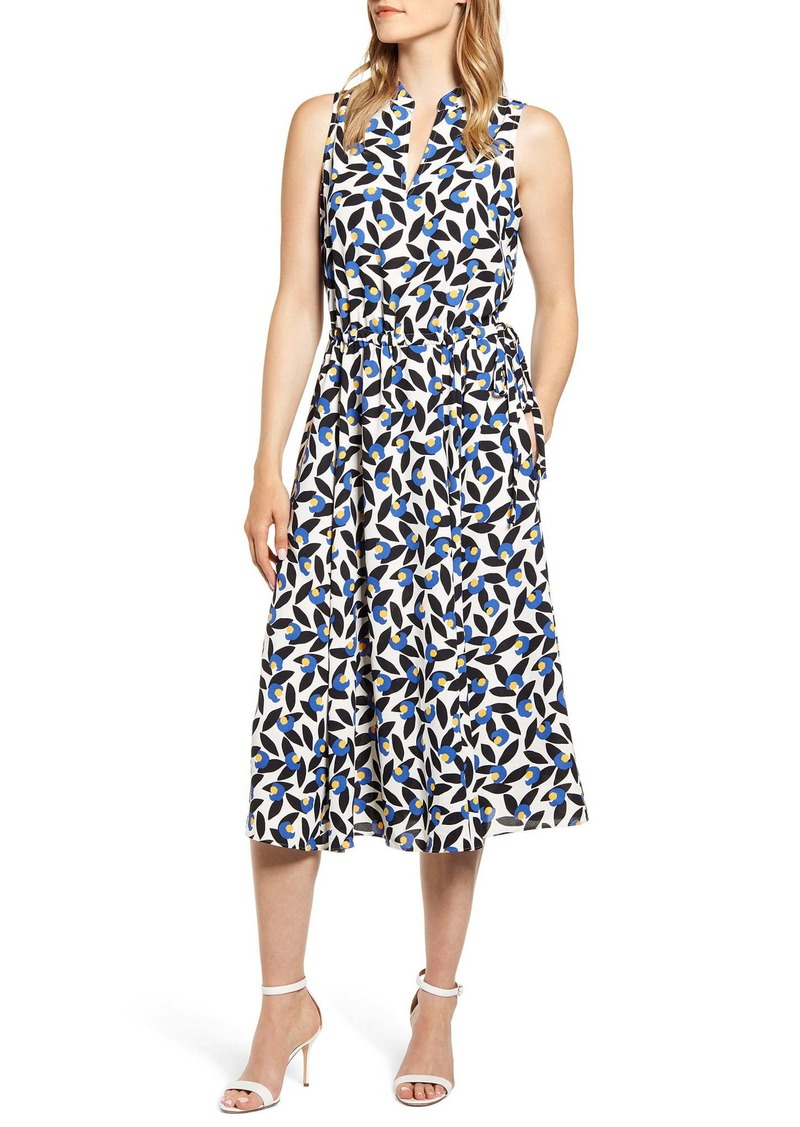 Anne Klein Filigree Print Midi Dress