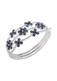 Anne Klein Floral Pavé Bracelet in Gift Box