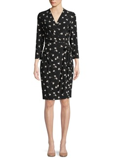 Anne Klein Floral Wrap Dress