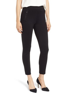 Anne Klein Florence Zip Pocket Seam Detail Stretch Pants