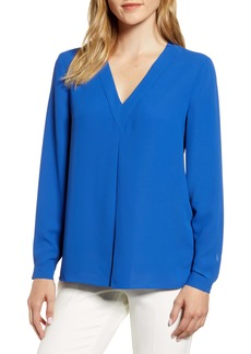 Anne Klein Front Pleat Blouse