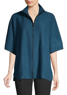Anne Klein Front-Zip Top