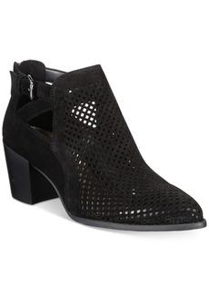 Anne Klein Gabs Block-Heel Perforated Booties