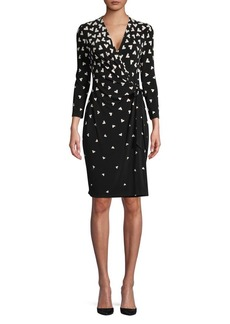 Anne Klein Geometric Tumble Wrap Dress