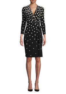 Anne Klein Geometric Tumble Wrap Dress