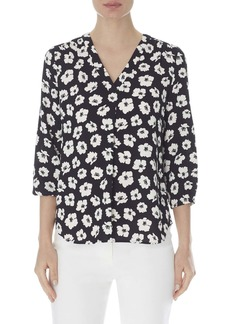 Anne Klein Giverny Floral Print Blouse