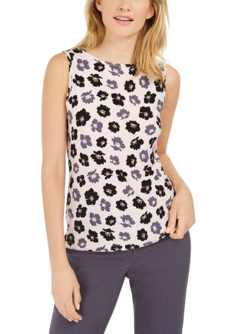 Anne Klein Giverny Floral-Print Top