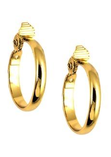 """Anne Klein Gold-Tone 1 3/4"""" Medium Width Hoop E-z Comfort Earrings"""