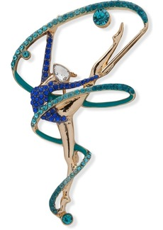 Anne Klein Gold-Tone Crystal Dancer Pin, Created for Macy's
