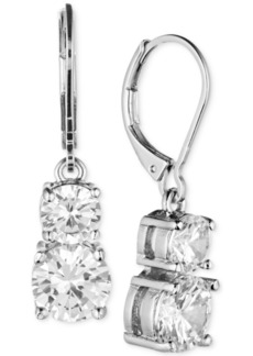 Anne Klein Gold-Tone Double Crystal Drop Earrings