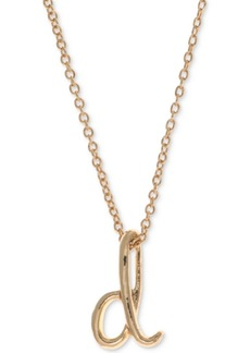 Anne Klein Gold-Tone Initial Pendant Necklace