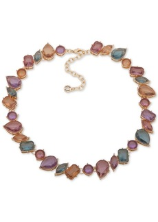 "Anne Klein Gold-Tone Multi-Stone Collar Necklace, 16-1/2"" + 3"" extender"