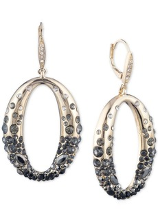 Anne Klein Gold-Tone Ombre Scattered Stone Link Drop Earrings
