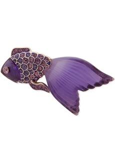 Anne Klein Gold-Tone Pave Fish Pin