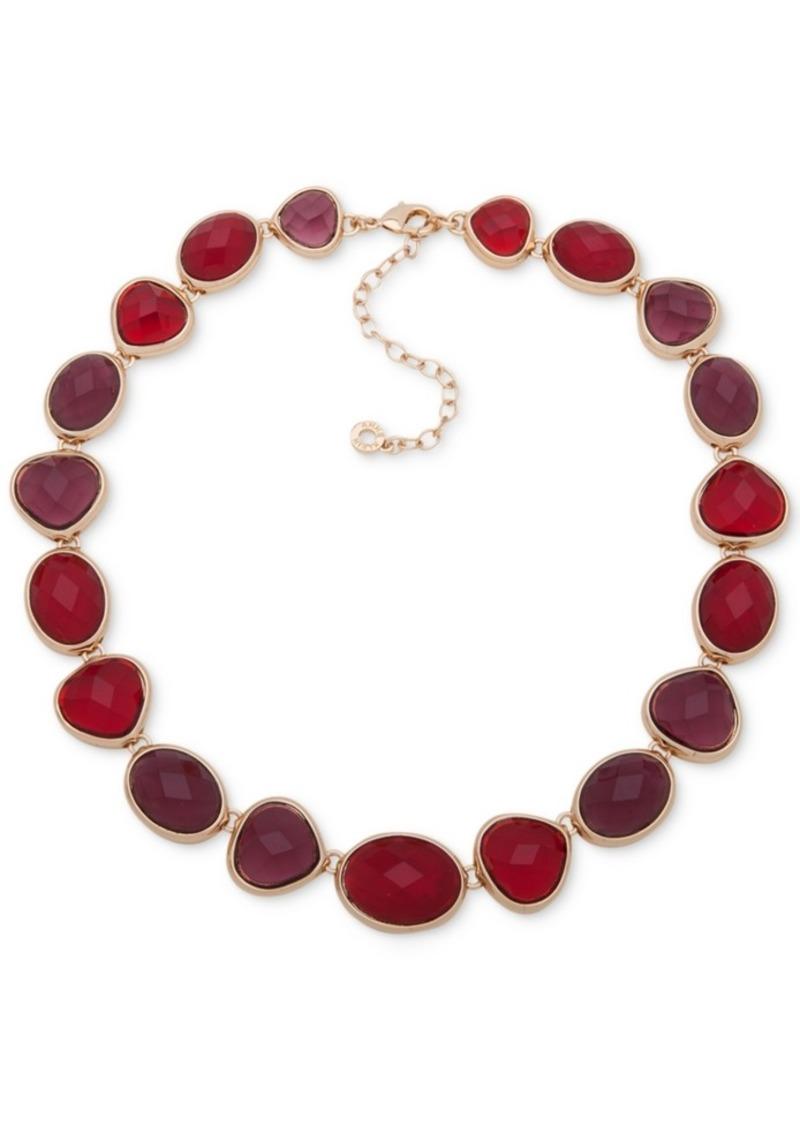 """Anne Klein Gold-Tone Stone Collar Necklace, 16"""" + 3"""" extender"""