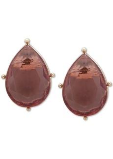 Anne Klein Gold-Tone Teardrop Crystal Stud Earrings