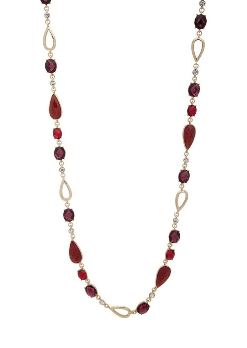Anne Klein Goldtone and Cubic Zirconia Strand Necklace