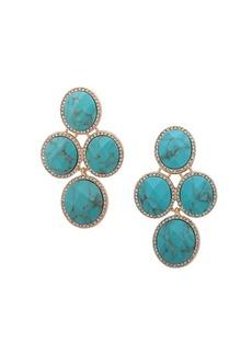 Anne Klein Goldtone Clip-On Chandelier Earrings