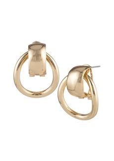 Anne Klein Goldtone Door Knocker Earrings