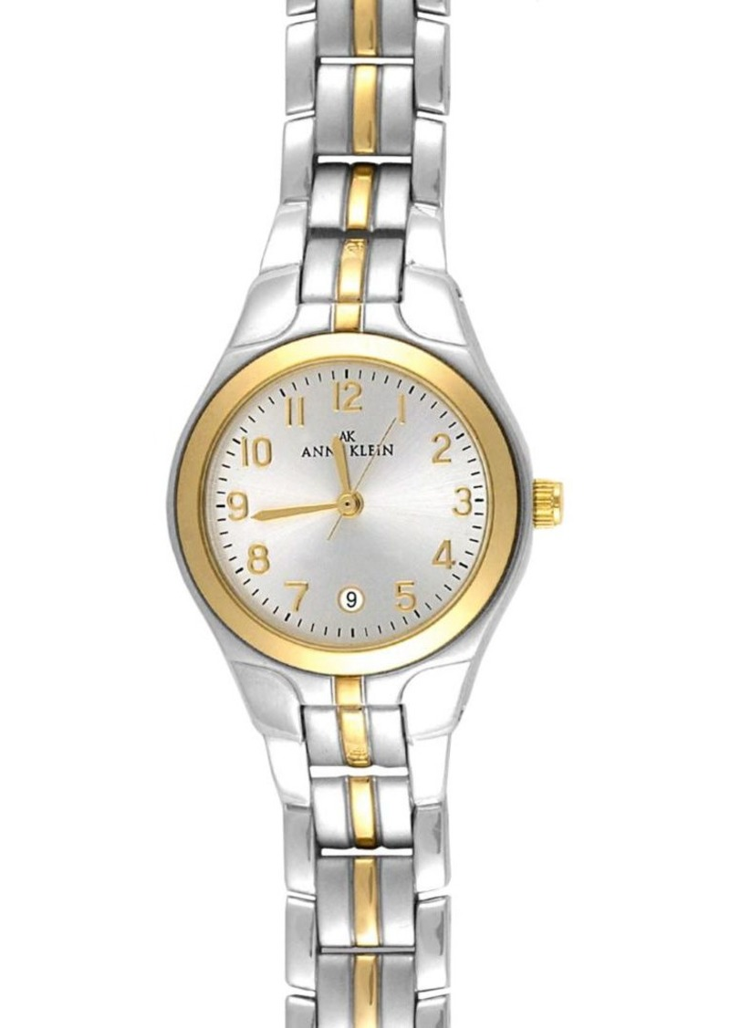 Anne Klein Goldtone Link Bracelet Two-Tone Watch