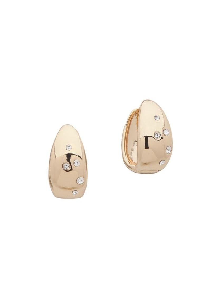 Anne Klein Goldtone Sprinkle Hoop Earrings