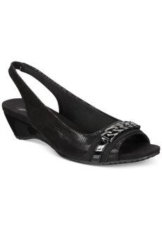 Anne Klein Hadee Slingback Wedge Sandals