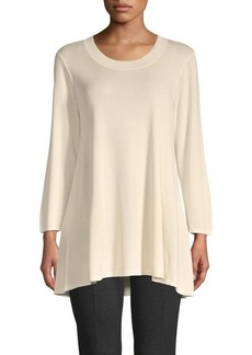 Anne Klein High-Low Long-Sleeve Tunic