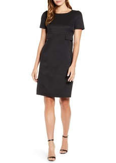 Anne Klein High Waist Twill Dress