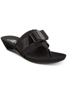 Anne Klein Imperial Thong Wedge Sandals, Created for Macy's
