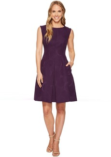 Anne Klein Inverted Pleat Fit & Flare Dress