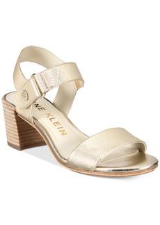 Anne Klein Jackie Block-Heel Sandals