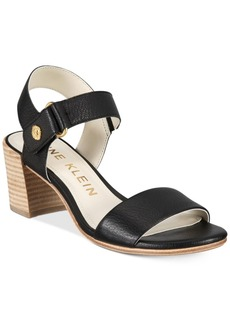 Anne Klein Jackie Block-Heel Sandals