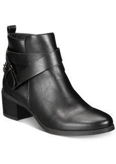 Anne Klein Javen iFlex Block-Heel Zip Booties