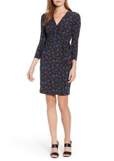 Anne Klein Justine Faux Wrap Stretch Jersey Dress