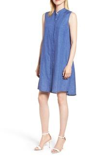 Anne Klein Linen Trapeze Dress