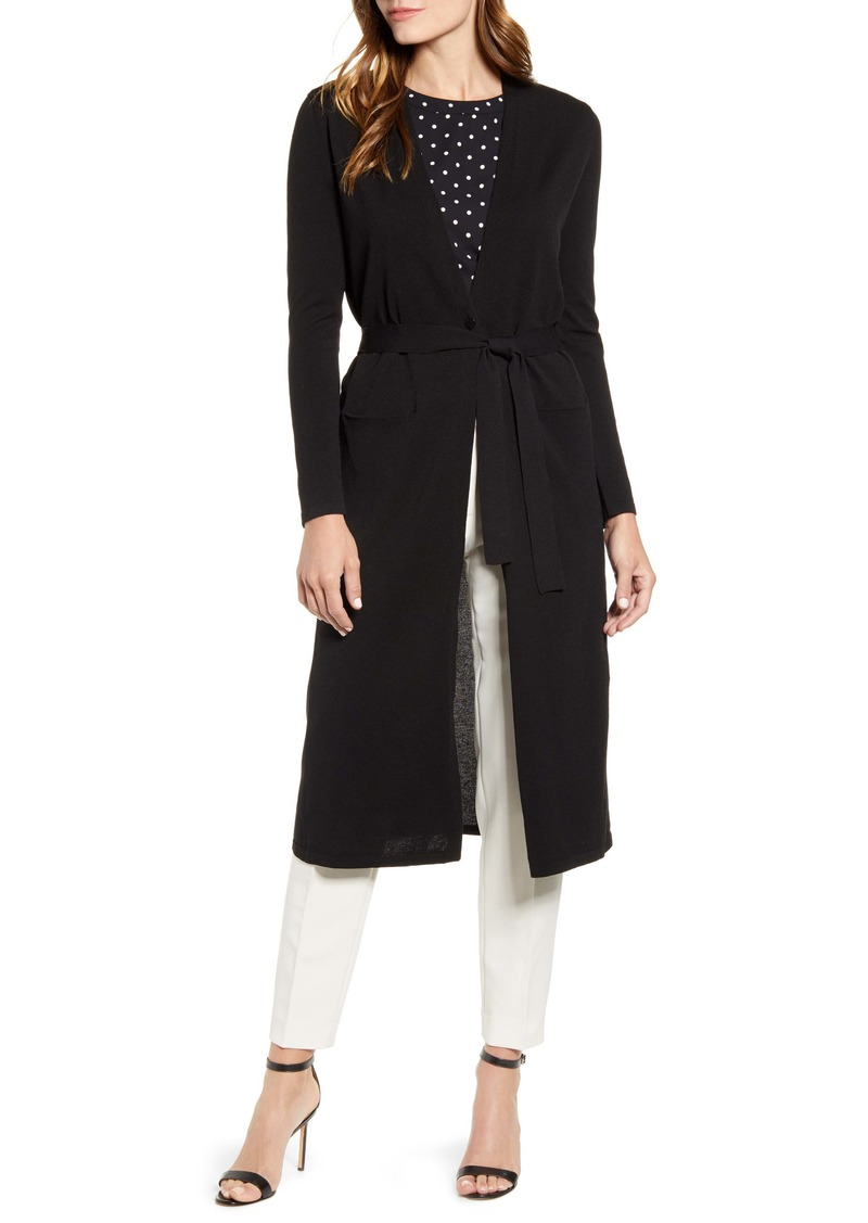 Anne Klein Long Belted Cardigan
