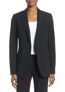 Anne Klein Long Boyfriend Suit Jacket
