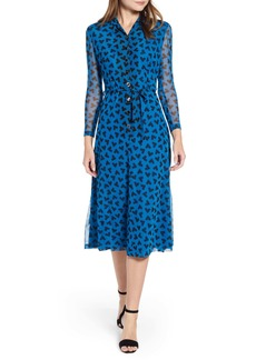 Anne Klein Long Sleeve Midi Dress