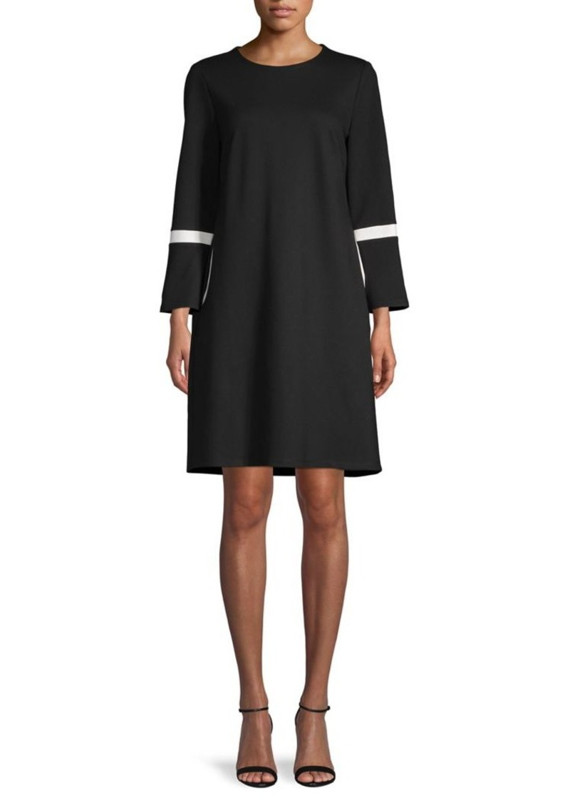 Anne Klein Long-Sleeve T-Shirt Dress