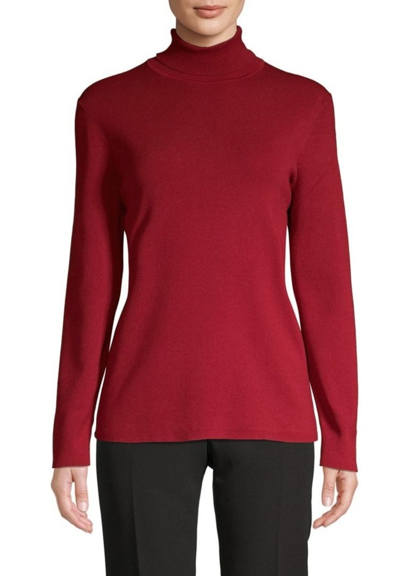Anne Klein Long-Sleeve Turtleneck Top