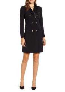 Anne Klein Long Sleeve Tuxedo Sheath Dress