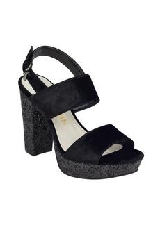 Anne Klein Lorrie Velvet Platform Sandals