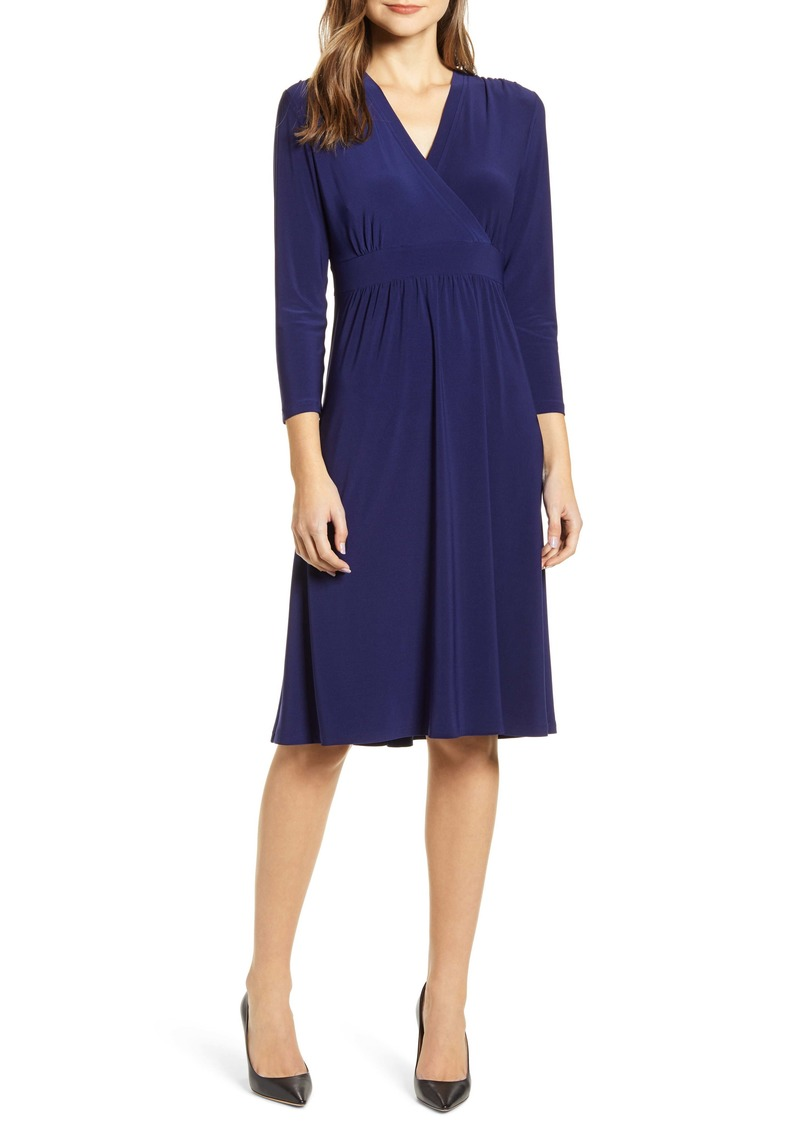 Anne Klein Matte Jersey Fit & Flare Dress